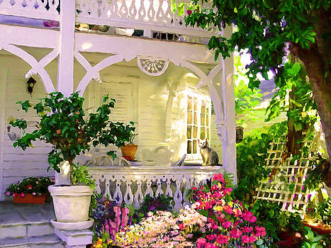 A Key West Porch by David  Van Hulst
