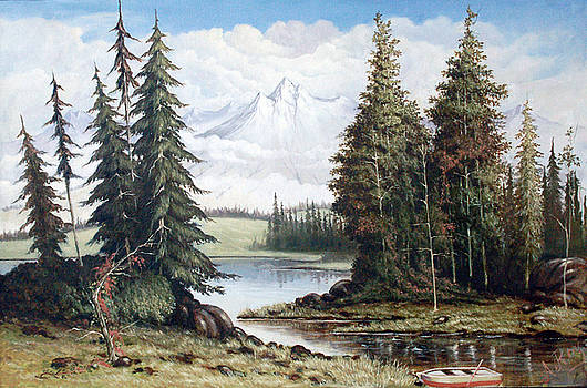 A Lake Near Mountain by Anup Roy