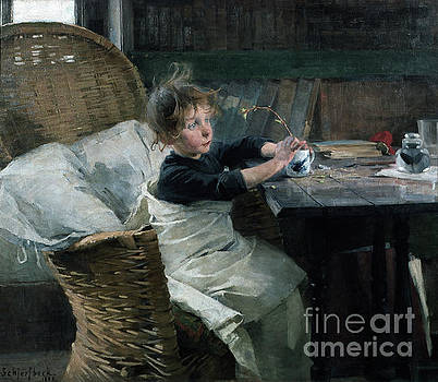 A little convalescent by Helene Schjerfbeck