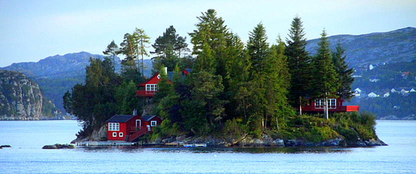 A Little Island of Red Houses by Laurel Talabere