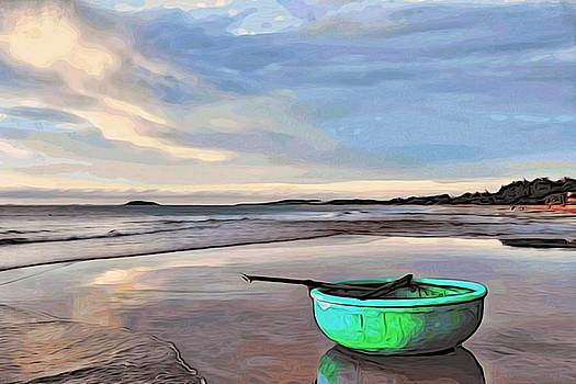 Lone boat by Alexandre Ivanov