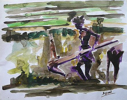 A Lone Farmhand by Abin Raj