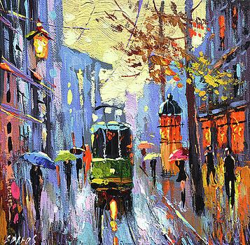 A lonley tram  by Dmitry Spiros