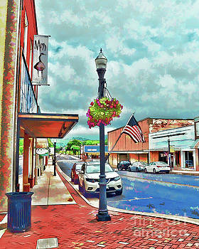 A Look Down Main Street - Waynesboro Virginia - Art of the Small Town by Kerri Farley