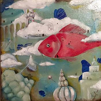 A lucid dream of a traveling  fish about a stolen pearl. by Nadia Heppell