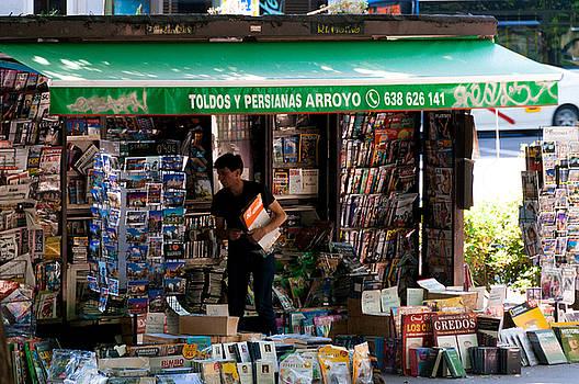 A Madrid Newsstand by Dawn Wayand