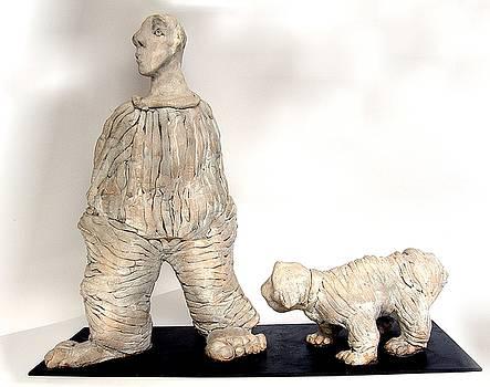 A Man and a Dog by Vera Peneva