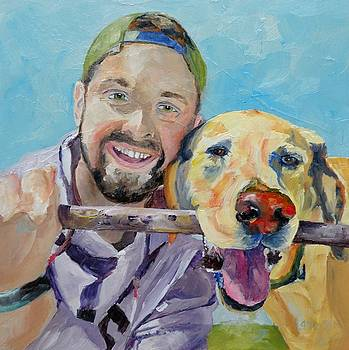 A man and his best friend by Saundra Lane Galloway