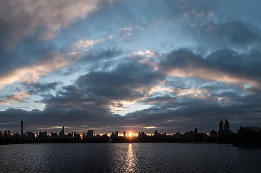 A Manhattan Sunset by Cornelis Verwaal
