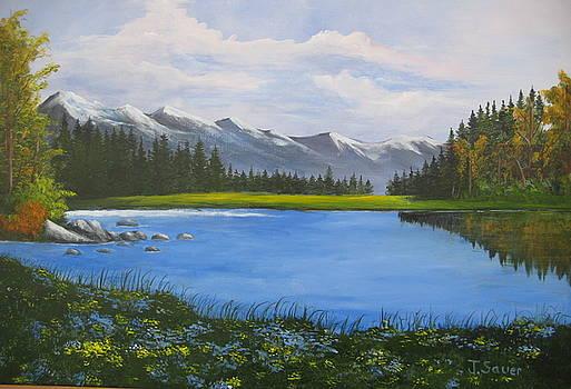 A meadow near Mount Lassen  by Julie Sauer