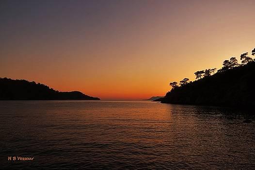 A Mediterranean Sunset by B Vesseur