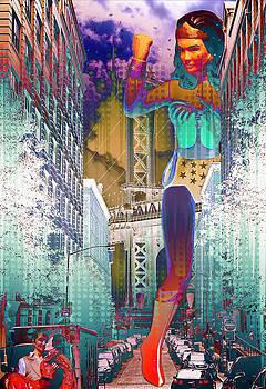 A Mega Wonder Woman Scorned Abstract by Aurelio Zucco