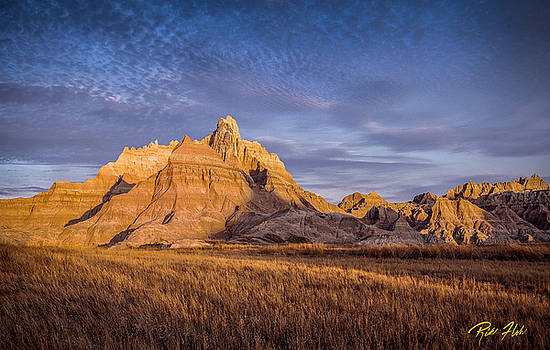 A Morning Badlands Peak by Rikk Flohr
