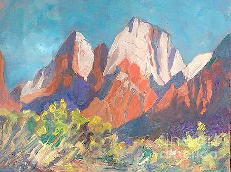 A morning view of Zion by Diane Renchler