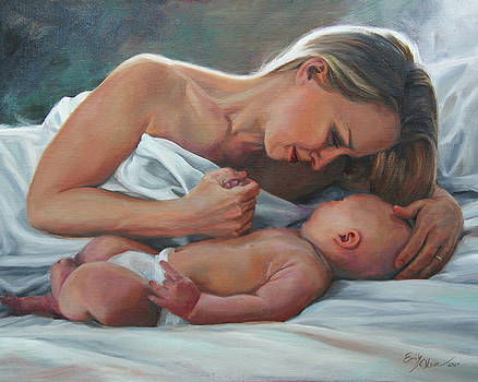 A Mother's Adoration by Emily Olson