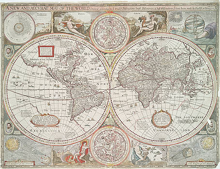 A new and accurat map of the world  drawne according to ye truest descriptions latest discoueries  by Paul Fearn
