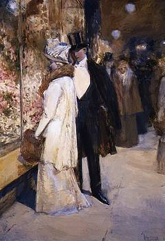 A New Year Nocturne New York by Hassam Childe