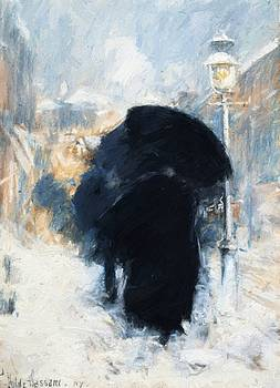 A New York Blizzard by Hassam Childe