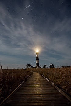 A Night at Bodie Island Lighthouse by Jim Neal