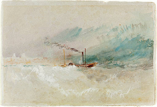 Joseph Mallord William Turner - A Packet Boat off Dover