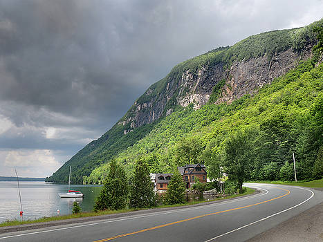 A Passing Cloud at Lake Willoughby In Westmore Vermont by Nancy Griswold