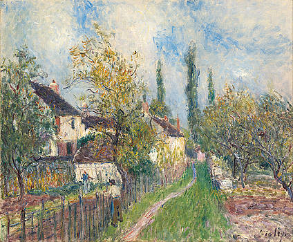 A path at Les Sablons by Alfred Sisley