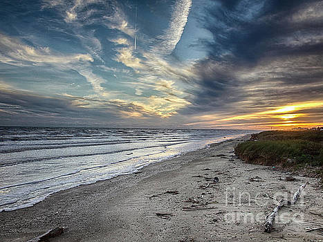 A Peaceful Beach Sunset by Charles McKelroy