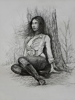 A Pensive Mood by Harvie Brown