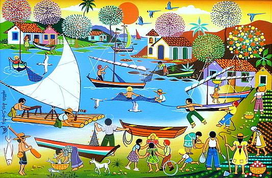 A pesca e a colheita by Militao Dos Santos Militao