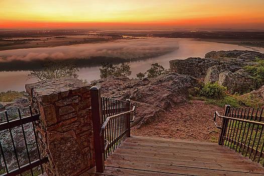 A Petit Jean Sunrise - Arkansas - Landscape by Jason Politte