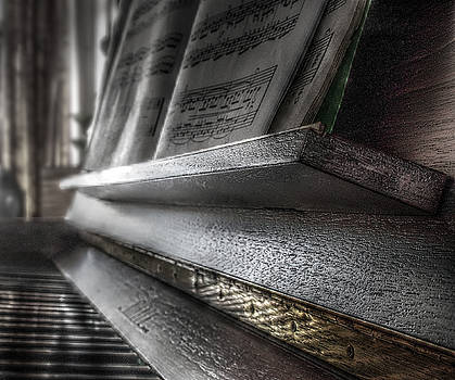 A piano's close-up by Playfulfoodie