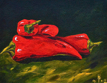 A Pile of Peppers two by Herschel Fall