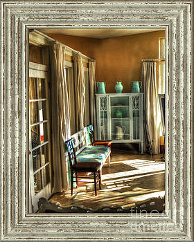 A Place to Set with Rustic Frame by C W Hooper