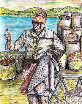 A Portugal vendor, Dancing by Chuck Gebhardt