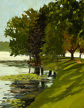 A Quiet Day on Fowler Lake by Anthony Sell