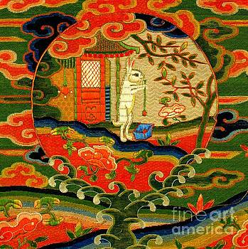 A Rabbit in the Moon 17th Century Chinese Silk Qing Dynasty by Peter Ogden Collection