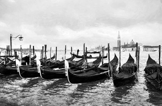 Mel Steinhauer - A Rainy Day In Venice BW
