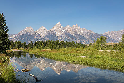 A Reflection of the Tetons by M C Hood