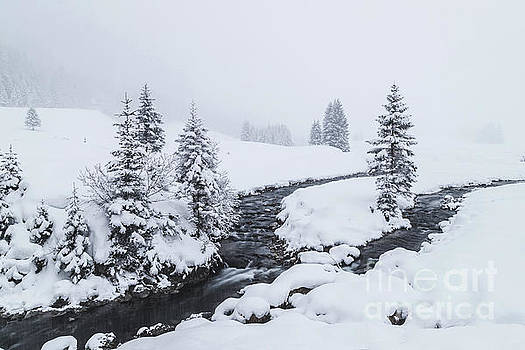 A river and winter landscape in Austria by Travel and Destinations - By Mike Clegg