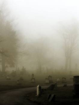 Gothicrow Images - A Road Through The Fog Soaked Graveyard