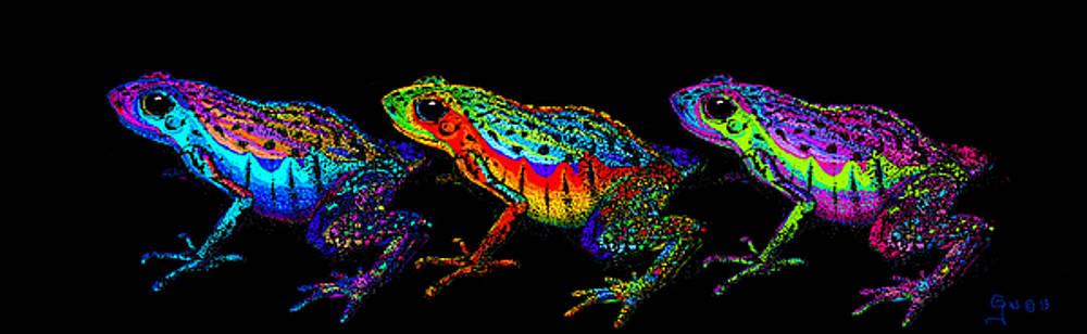 Nick Gustafson - A Row of Rainbow Frogs