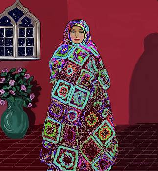 A Russian Girl in a Blanket by Jeannie Allerton