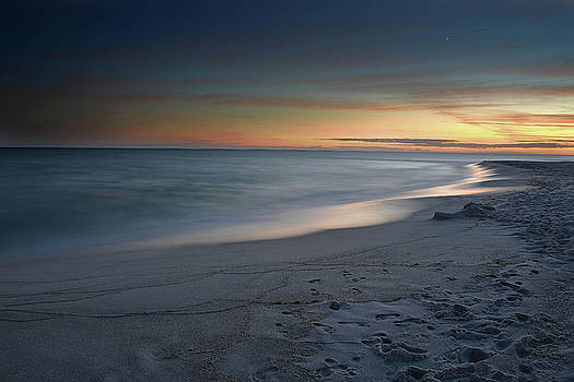 A Sandy Shoreline at Sunset by Renee Hardison