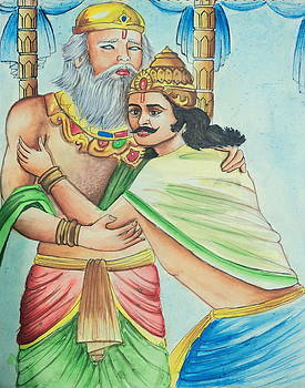 A Scene from Mahabharata by Tanmay Singh