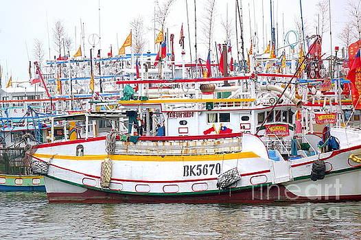 A Sea of Fishing Boats by Yali Shi