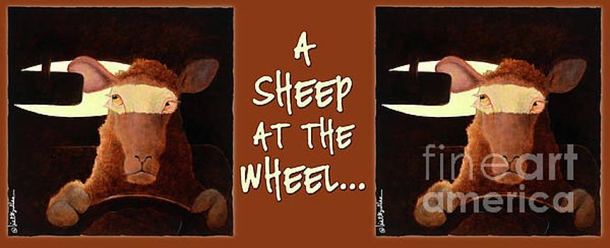 Will Bullas - a sheep at the wheel... coffee mug