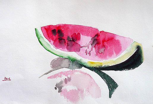A Slice of Watermelon by Abin Raj