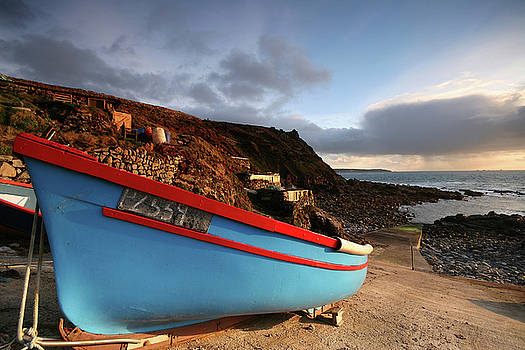 A small fishing boat Priests cove Cape Cornwall by Mark Stokes