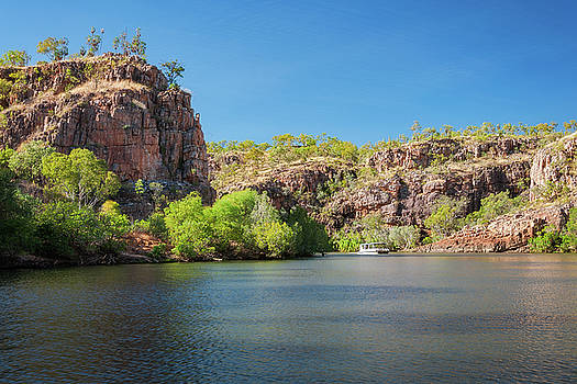 A small river boat at Katherine Gorge, NT, Austr by Daniela Constantinescu