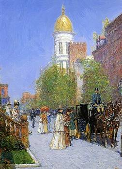 A Spring Morning 1892 by Hassam Childe
